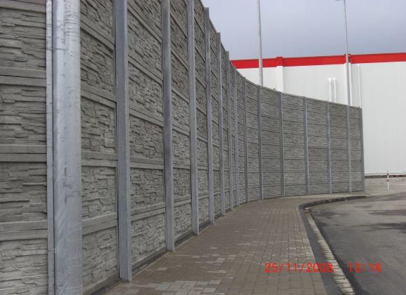 Top Lärmschutz - Unsere Betonzäune bieten einen exzellenten Lärmschutz #CN_85