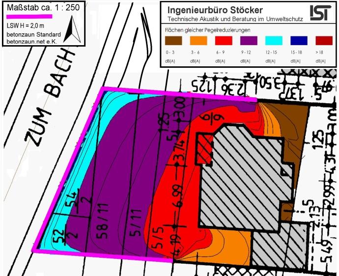 Karte Lärmminderung mit betonzaun - Quelle: betonzaun.net